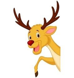 Cute deer head cartoon vector