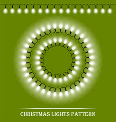 detailed realistic christmas white lights and vector image vector image