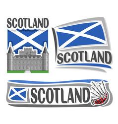 logo for scotland vector image