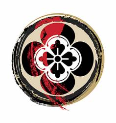 samurai crest vector image