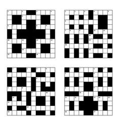 10x10 crossword puzzle set vector