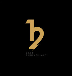 12 year anniversary celebration template design vector
