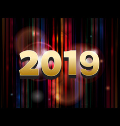 2019 on abstract striped background vector