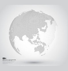 3d abstract dotted globe vector image