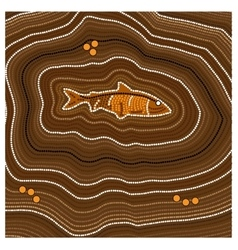 Aboriginal art background Fish vector