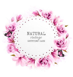 Abstact flower background vector