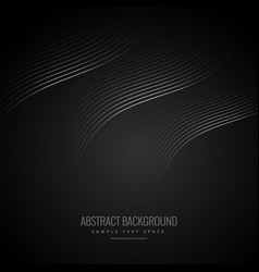 abstract black background with curve lines vector image