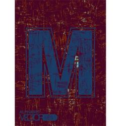 alphabet m vector image
