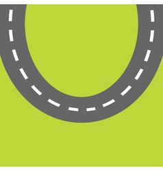Background with round road white marking template vector