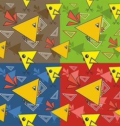 Bird pattern design vector image