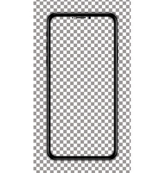 black smartphone transparent screen vector image