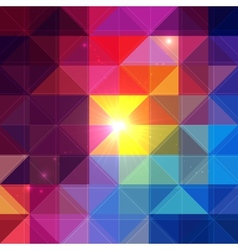 Bright colorful triangles background vector