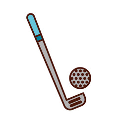 brightly golf club and ball vector image