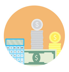 calculate money icon vector image vector image