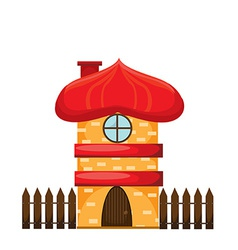 Cartoon house on white background vector image