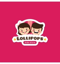 cartoon lollipops store logo vector image