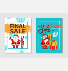 christmas sale discount set vector image