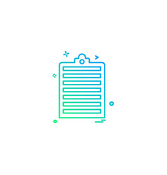 clipboard paper page icon design vector image