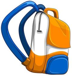 Close up school bag vector