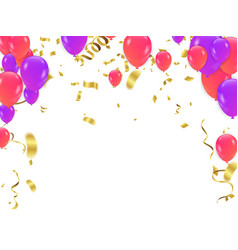 Coloful birthday balloons isolated on white vector