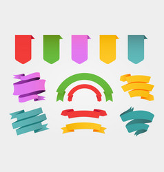 colorful banners and ribbons set vector image