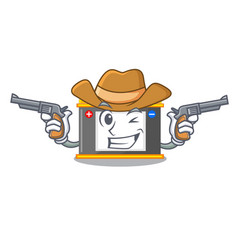 Cowboy accomulator in the a character shape vector
