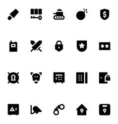 Crime Security and Defense Icons 3 vector