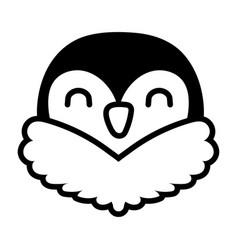 Cute little sparrow bird line style vector