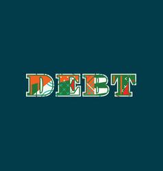 debt concept word art vector image