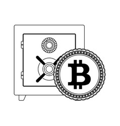 deposit box safe for storage bitcoin vector image