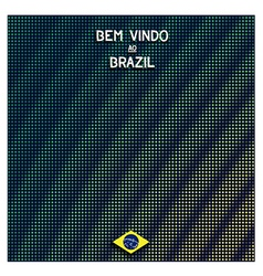 Digital Brazil background vector image