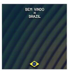 Digital Brazil background vector