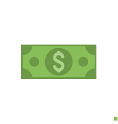 dollar flat icon vector image