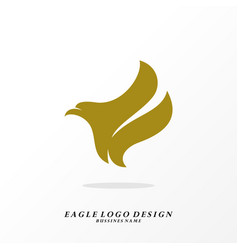 eagle logo design simple eagle logo template vector image