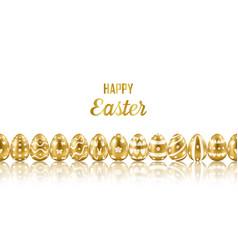 Easter gold eggs horizon seamless web banner vector