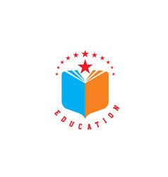 Education book library school logo vector