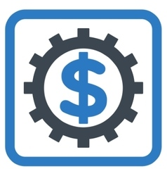 Financial Industry Flat Icon vector image