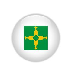 Flag bandeira do distrito federal on button vector