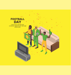 football day concept background isometric style vector image