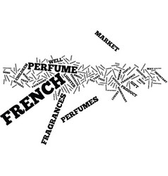 French perfumes text background word cloud concept vector