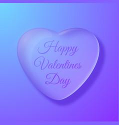 Glossy romantic heart vector