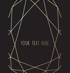 Gold polygonal frame geometric diamond shapes vector