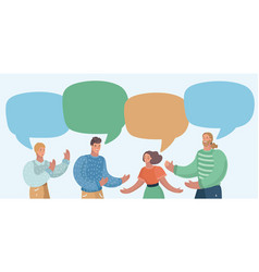group people have conversation vector image
