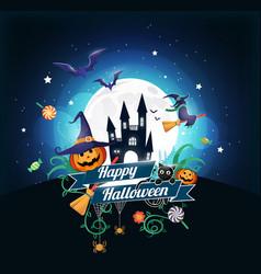 Halloween blue vector