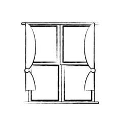 house windows design vector image