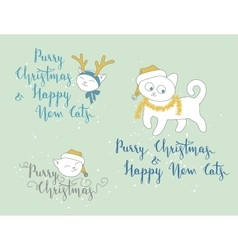 Humorous Christmas and New Year greetings vector