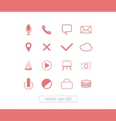 icons website set vector image