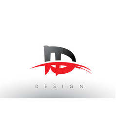 Id i d brush logo letters with red and black vector