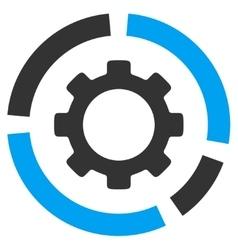 Industry Diagram Flat Icon vector