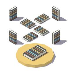 Isometric stripe print book vector